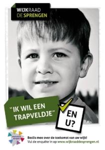 Leefbaarheid - bewonersenquête 2011 - kleine poster wijkraaddesprengen